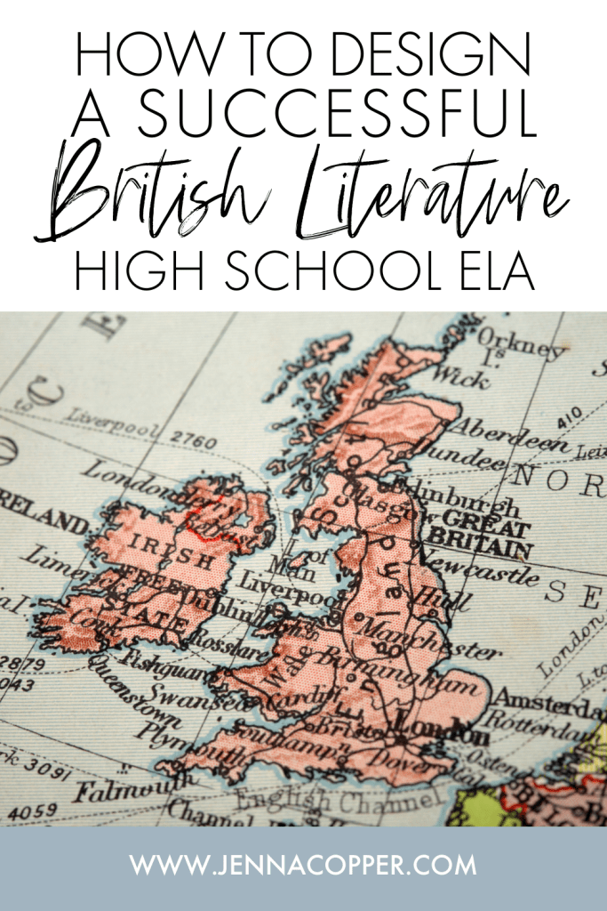 In this post, teachers will learn how to plan an engaging, effective, and diverse British Literature curriculum and course for secondary ELA students. You'll learn ideas for creating fun and valuable reading and writing activities, discussions, projects, and assessments for high school English students.