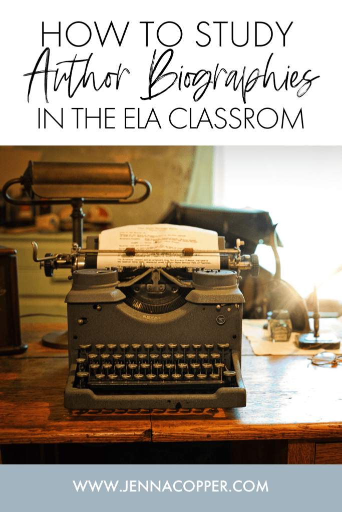 Do you use author biographies in your ELA classroom? In this post, you'll learn strategies for incorporating biographical research with literary lenses. This post includes lesson ideas, projects, strategies, and background on biographical lens to supplement the study of literature, short stories, novels, and poetry with the author's life.