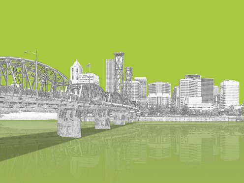 Portland is Green City Print via Matthew Moore (Ephemere Designs), on Etsy.