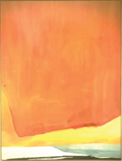 ORANGE Helen Frankenthaler