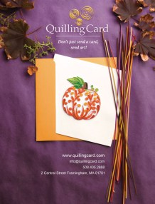 Fall 2016 ad for Museums and More for Quilling Card