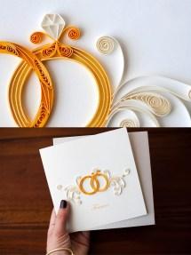 Wedding greeting card design