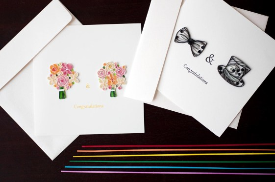 Same-sex marriage greeting card designs