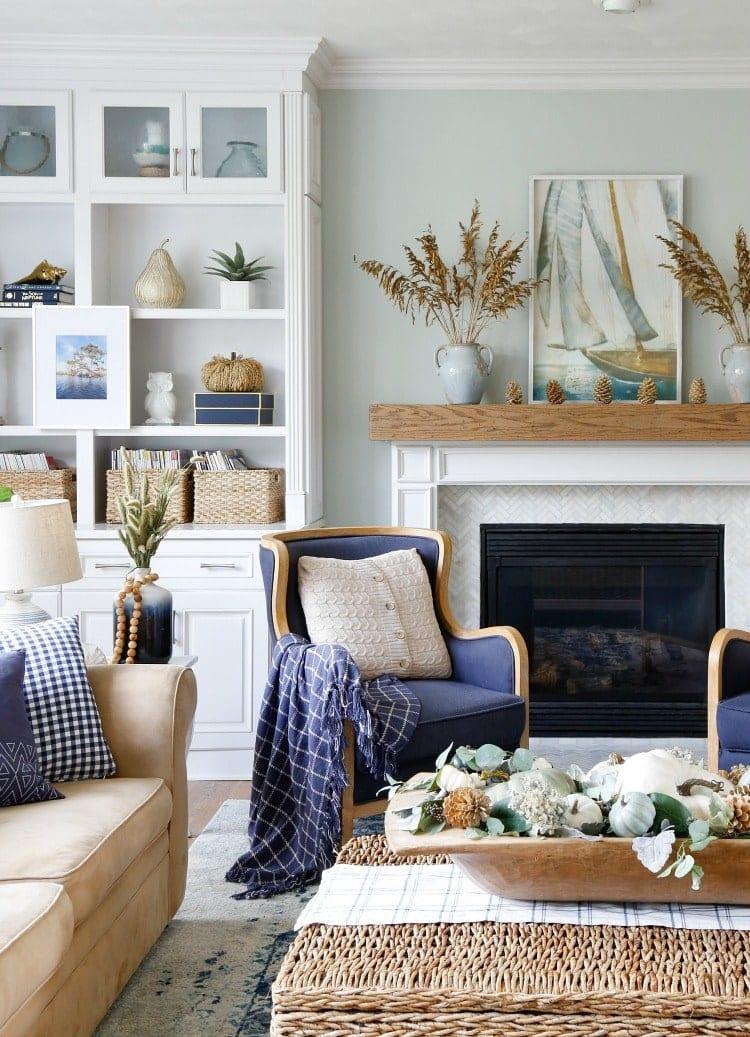 Elegant Coastal Décor - Jenna Kate at Home on Living Room:5J0Grrq-Soy= Curtains Design  id=93953
