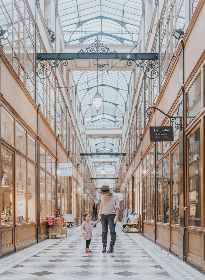 Exploring Passage du Grand Cerf in Paris, France.