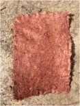 Red onion skin paper