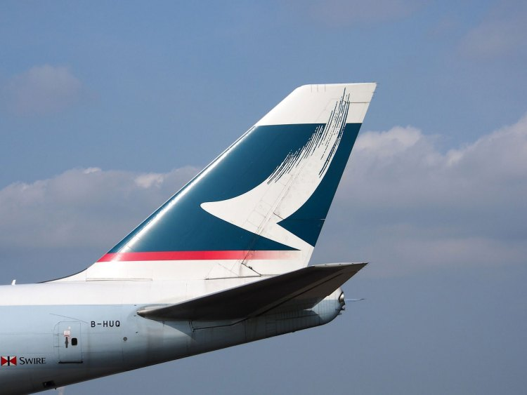 Aircraft Jumbo Jet Cathay Pacific Fin Boeing 747