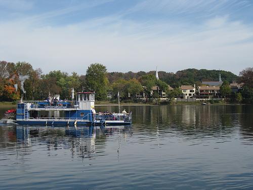 Paddleboat on the Delaware River in New Hope, Pennsylvania