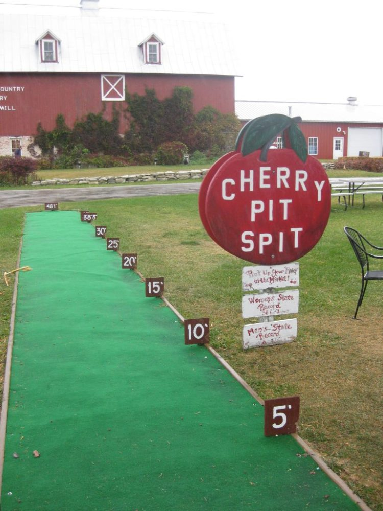 Cherry Pit Spit at Orchard Country Winery in Door County, Wisconsin