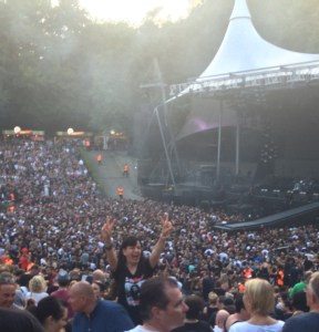 Avital Perelshtein at the final Depeche Mode concert at the Waldbühne