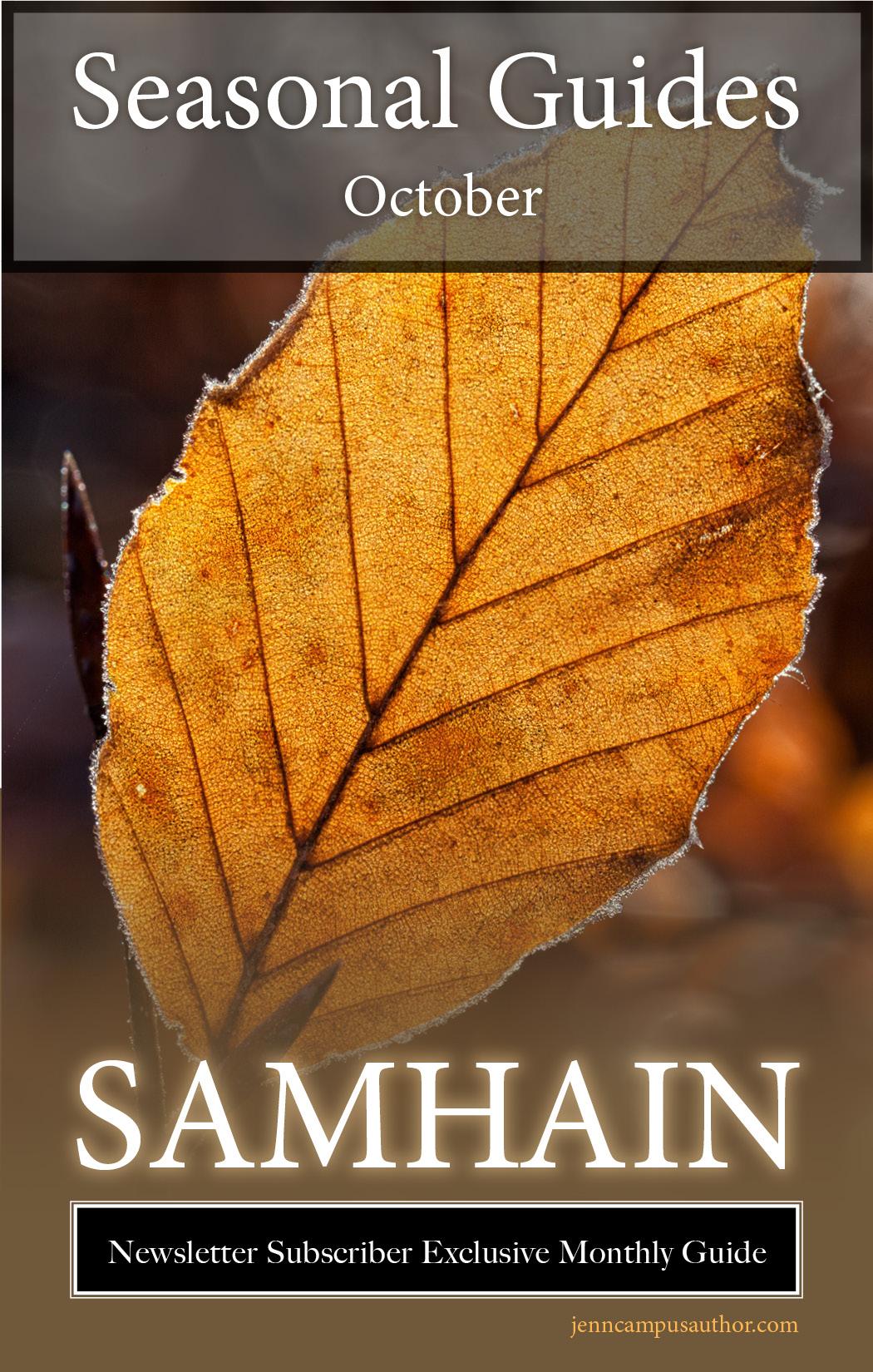 Seasonal Guide for October - Samhain