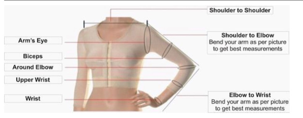 Measurement Form For Dress With Sleeves Or Jacket
