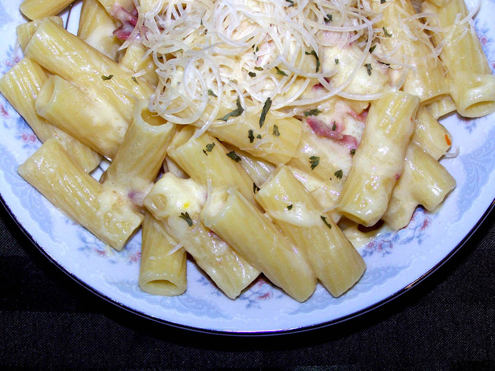 homemade carbonara