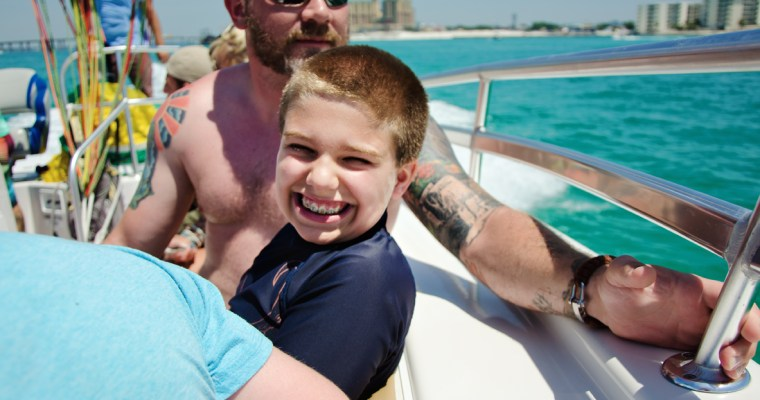 Parasailing and Fishing in the Gulf