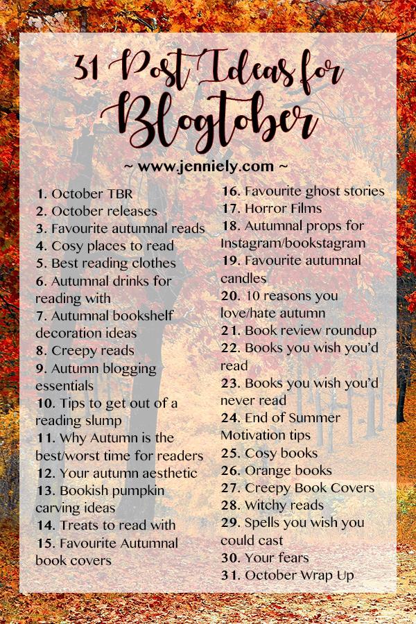 Blogtober Post Ideas