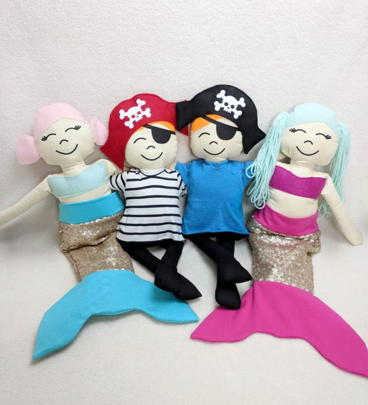 pirate and mermaid dolls