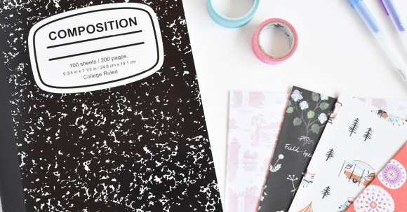 All you need is a composition book to start a bullet journal! It's so easy and a great way to stay organized!