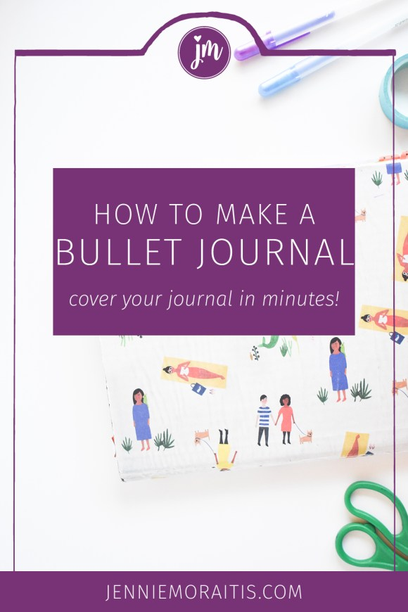 Learn how to cover your bullet journal with just a few basic supplies! This is such a great way to personalize your bullet journal without spending a lot of time doing so. :)