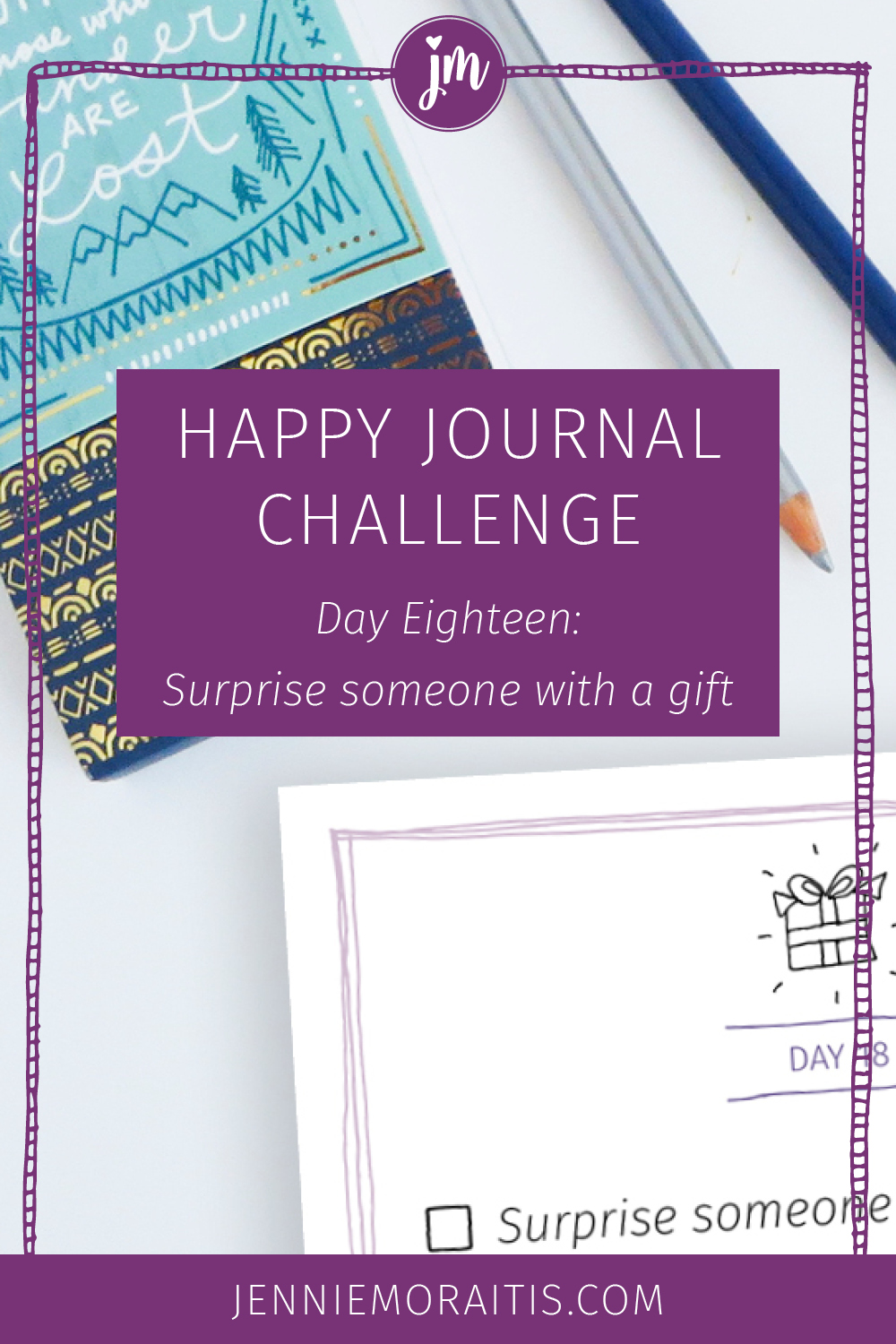 Have you ever received a surprise present? Aren't they THE BEST?! Today we're going to pay it forward in our happy journal challenge and make someone's day. Click over to learn how.