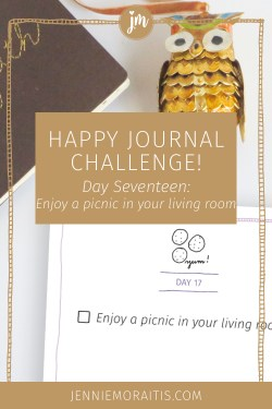 Okay, I'll admit I'm not much of a picnic fan, but in an effort to infuse more magic into my life, I'm all for this happy journal challenge prompt. If I can do this, you definitely can!