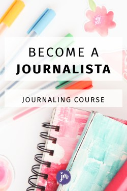 Join our FUN Journalista Challenge! This five module online course will help you get into your groove with journaling. We'll explore five different ways to journal, and you'll receive prompts galore that you can use in your own journal. It'll be fun!