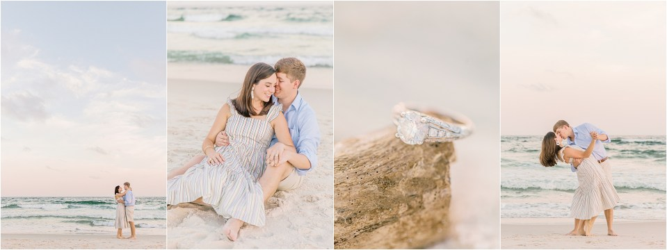 engagment session on the beach in orange beach alabama