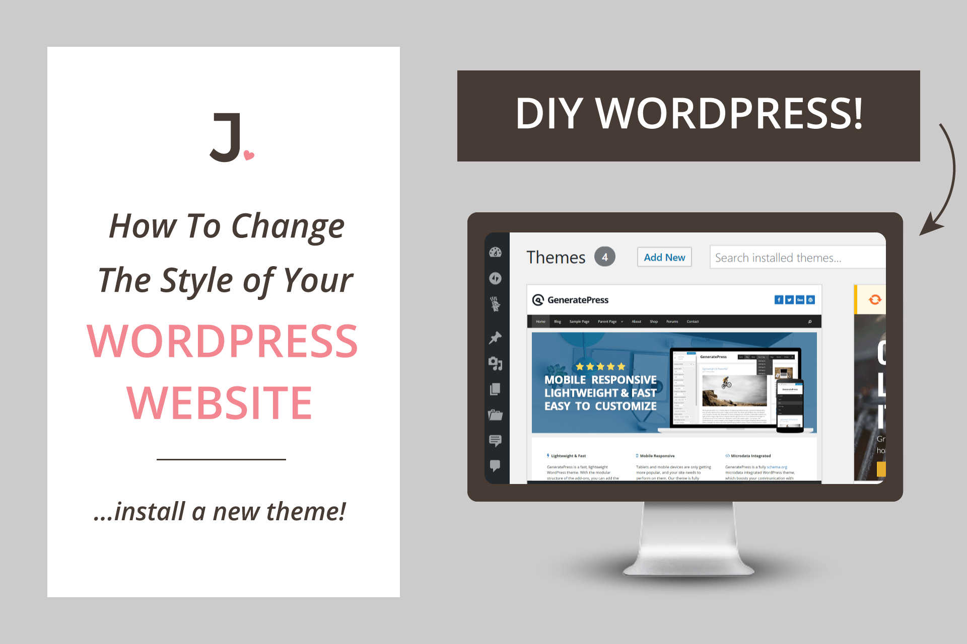 If you are new to WordPress and want to know how to install WordPress theme on your new site, keep reading because in this post I will show you how to instantly update the style of your website at Jennifer-Franklin.com.