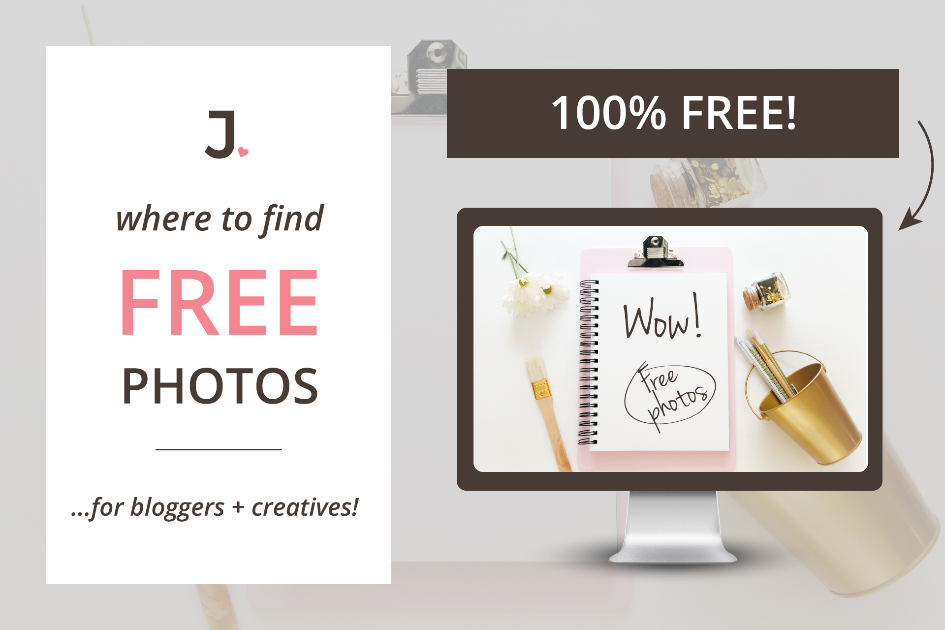 Today I am going to share my TEN best free stock photo websites. Tired of paying for stock photos? Looking for high-quality FREE images to use on your blog + social media posts? Jennifer-Franklin.com