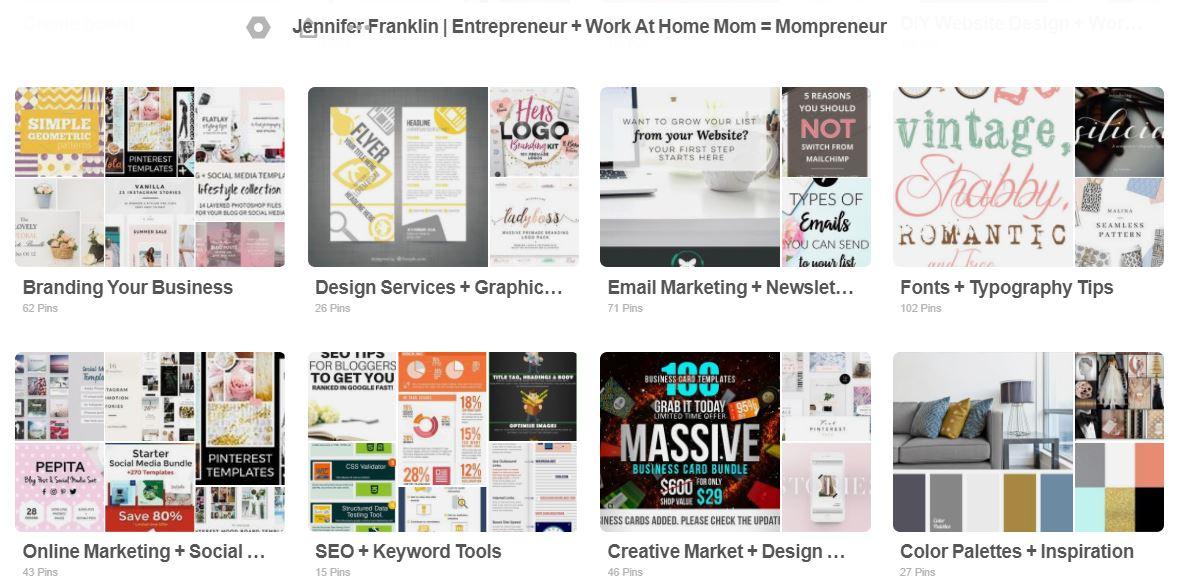 Jennifer-Franklin-Pinterest-Profile-Page-Before