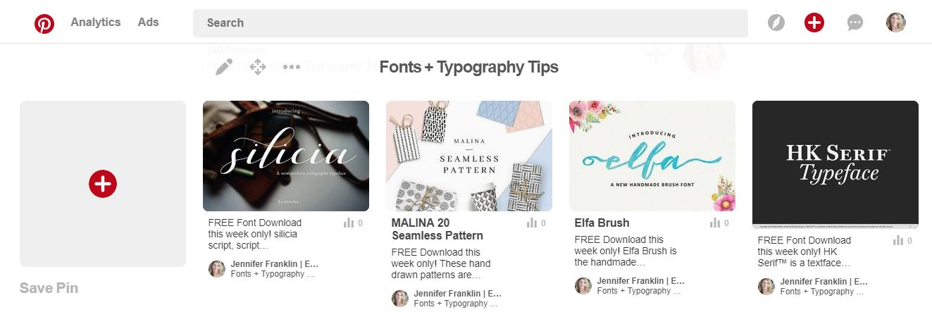 pinterest board cover image save pin