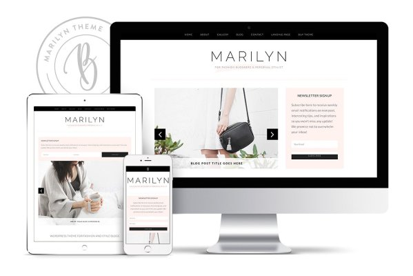 Blogger WordPress theme Marilyn is perfect for the fashion or lifestyle blogger. Learn more at Jennifer-Franklin.com.