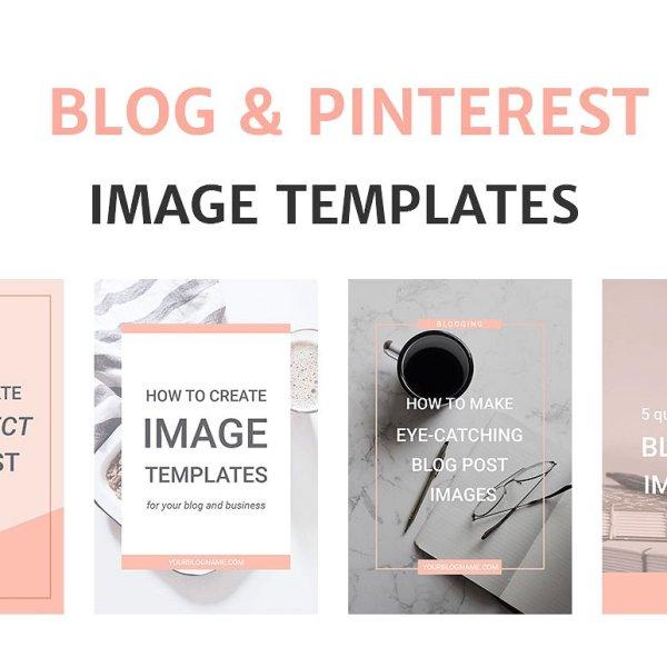 Photoshop Social Media Templates for creative bloggers.