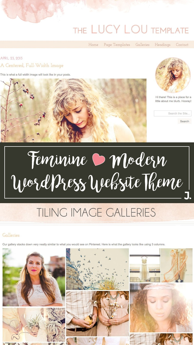 Watercolor Design WordPress Theme: Lucy Lou is feminine and modern for the creative blogger. Shop online at Jennifer-Franklin.com.