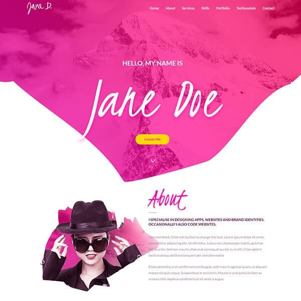 Ready Made Website | Freelancer Website | Portfolio Website | Jennifer-Franklin.com