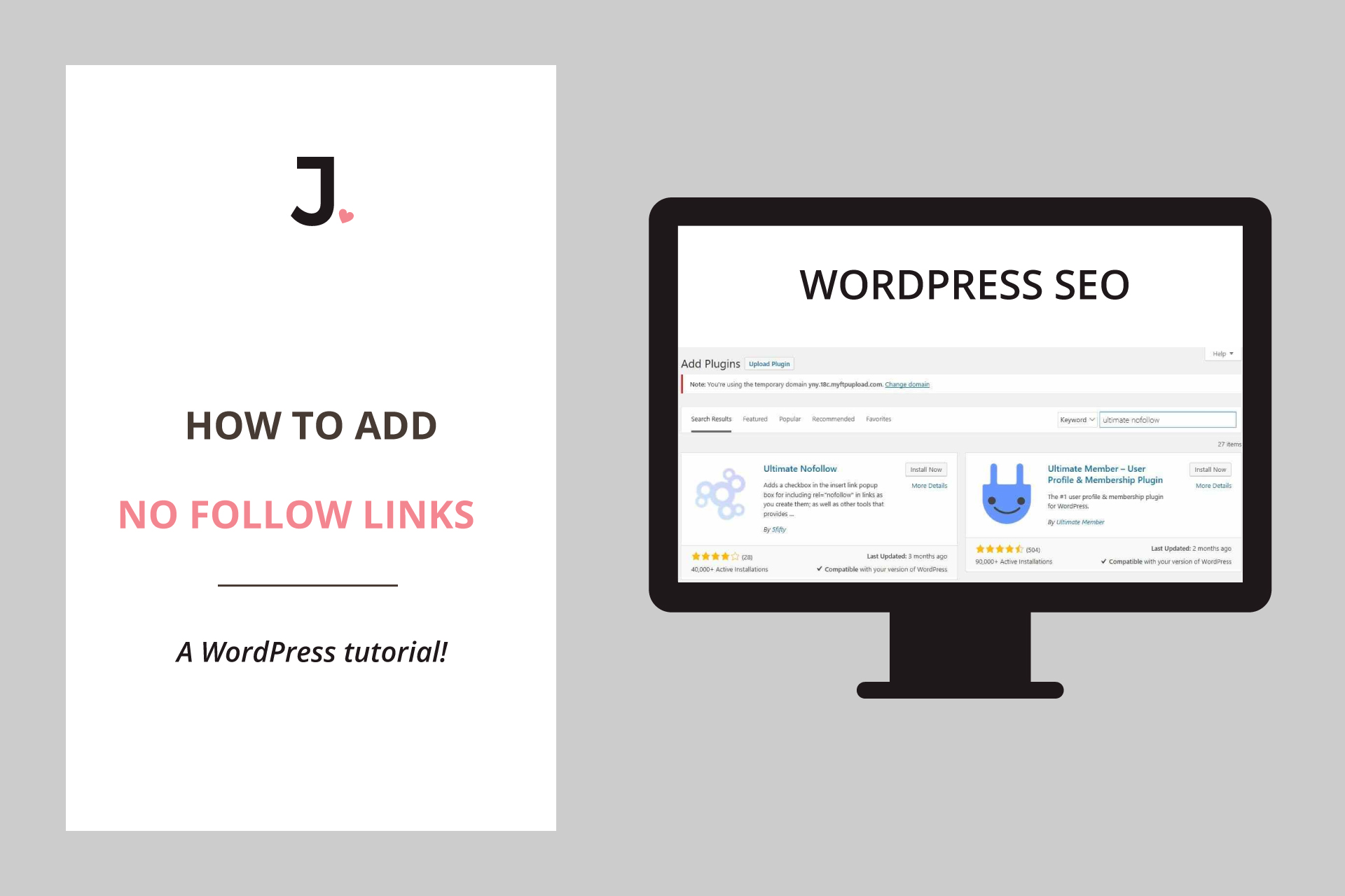 How To Add Nofollow Links in WordPress | Jennifer-Franklin.com
