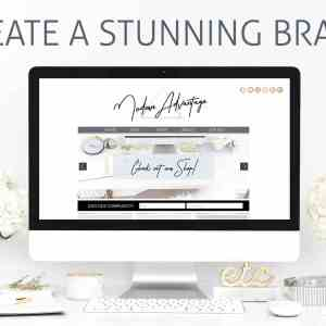Modern Branding Package Canva Templates: No more excuses - complete branding package to DIY your brand identity with Canva's free editing tools. | Jennifer-Franklin.com