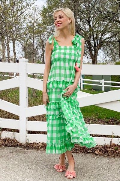 sundress gingham dress