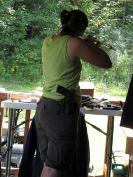 plinking on the porch