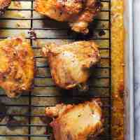 No Mess Crispy Chicken Thighs