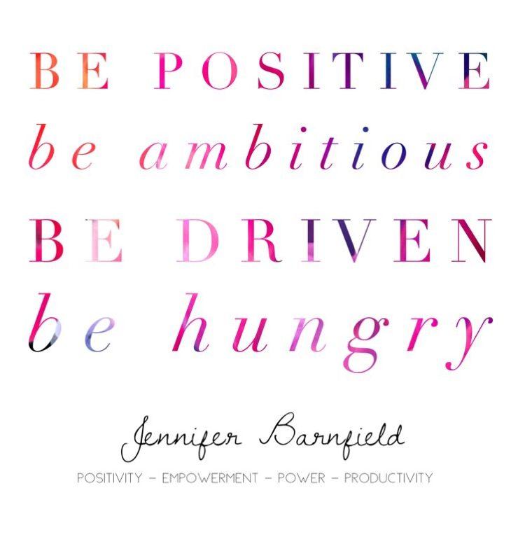 Jennifer Barnfield - Be Positive