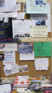 larger image of noticeboard on Lisburn Road