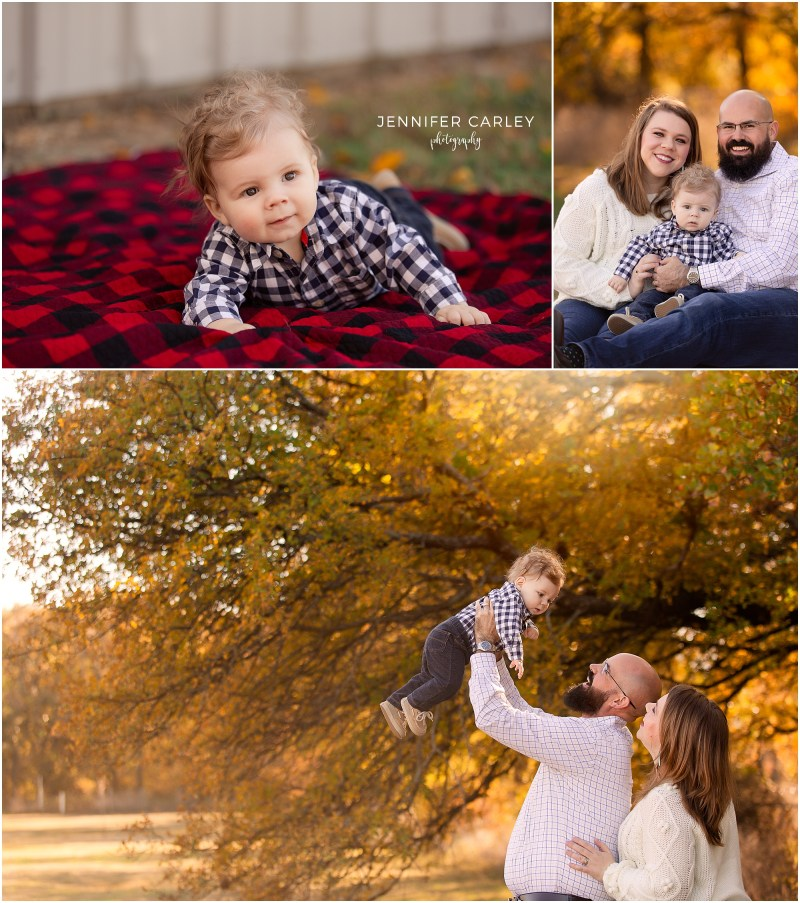 DFW Fall Sessions, Baby Photos, Family Photos, Family with baby, first Christmas, Flower Mount Family, What to wear for fall photos, Flower Mound, Green Acres Farm Memorial Park.