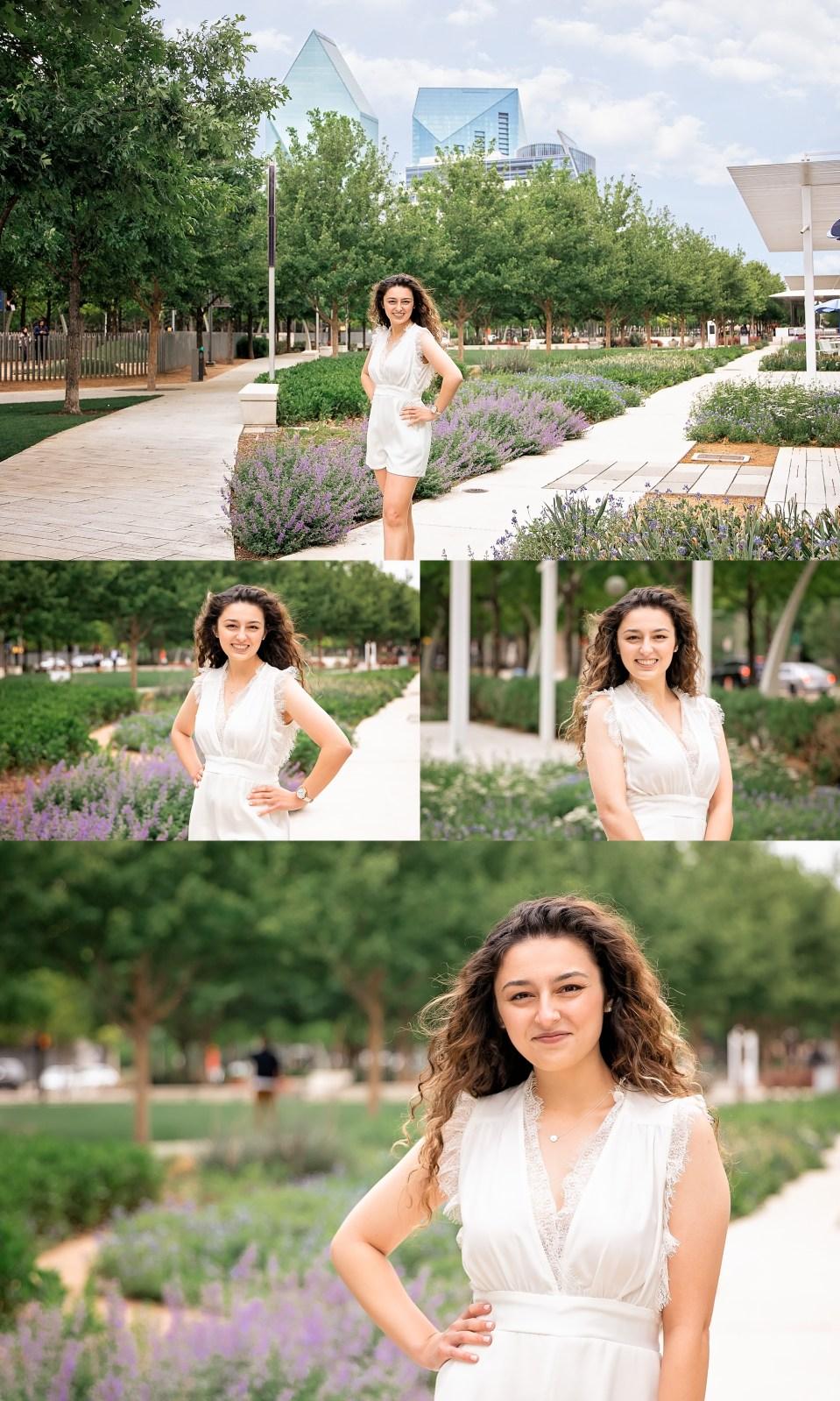 Klyde Warrent Park Portraits, Senior Portraits at Klyde Warren Park, Dallas Arts District portrait session, downtown dallas senior portraits