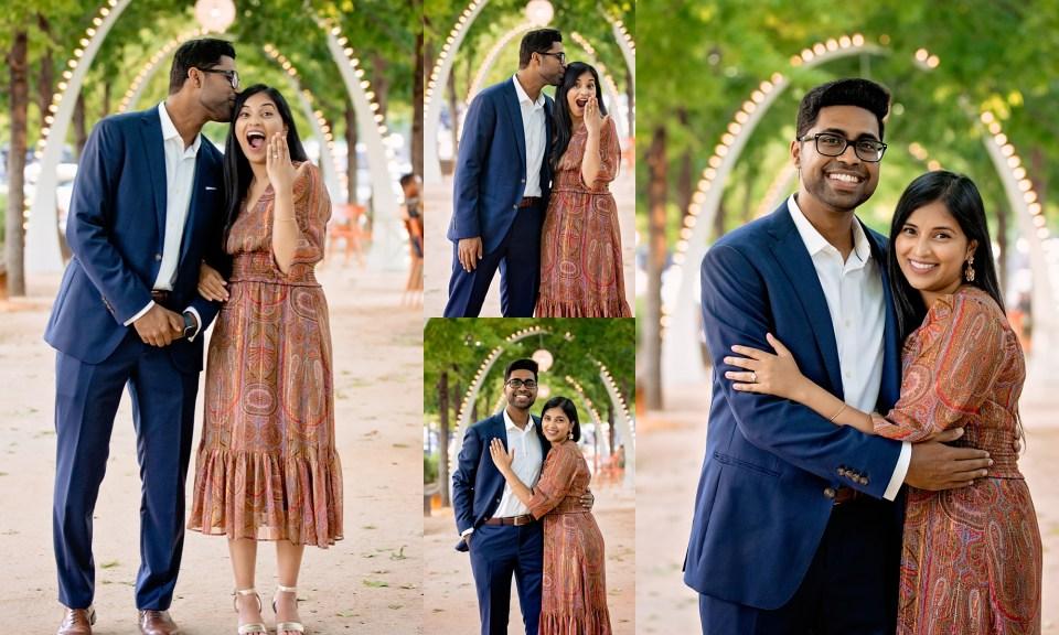 Dallas engagement photographer, marriage proposal, klyde warren park, engagement portraits klyde warren park, Denton wedding photographer, Denton engagement photographer, Dallas Arts District