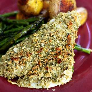 Pumpkin Seed Crusted Tilapia