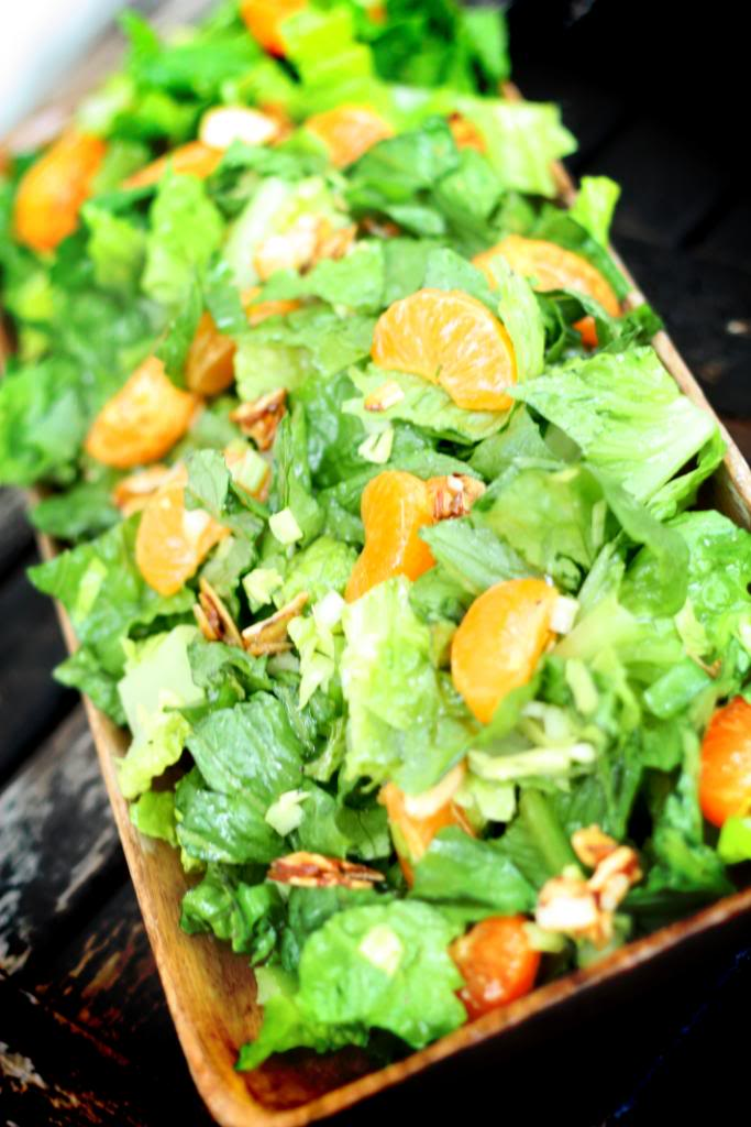 Green Salad With Mandarin Oranges Amp Candied Almonds Jennifer Cooks