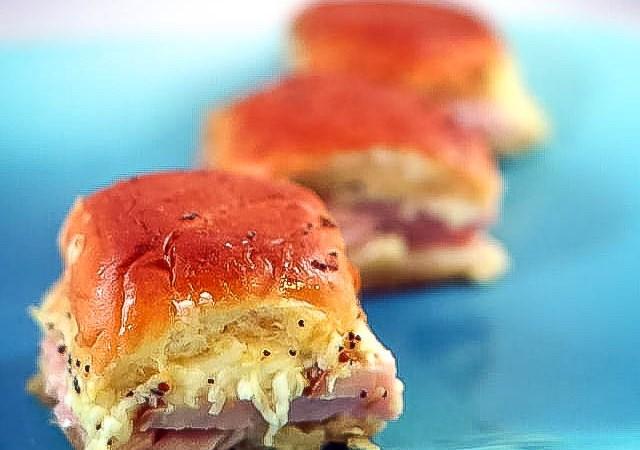 dinner roll sandwiches