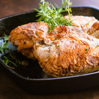 Pan Roasted Chicken with Lemon & Fresh Herbs