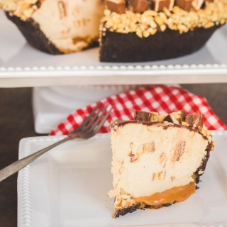 Mile High Snickers Pie