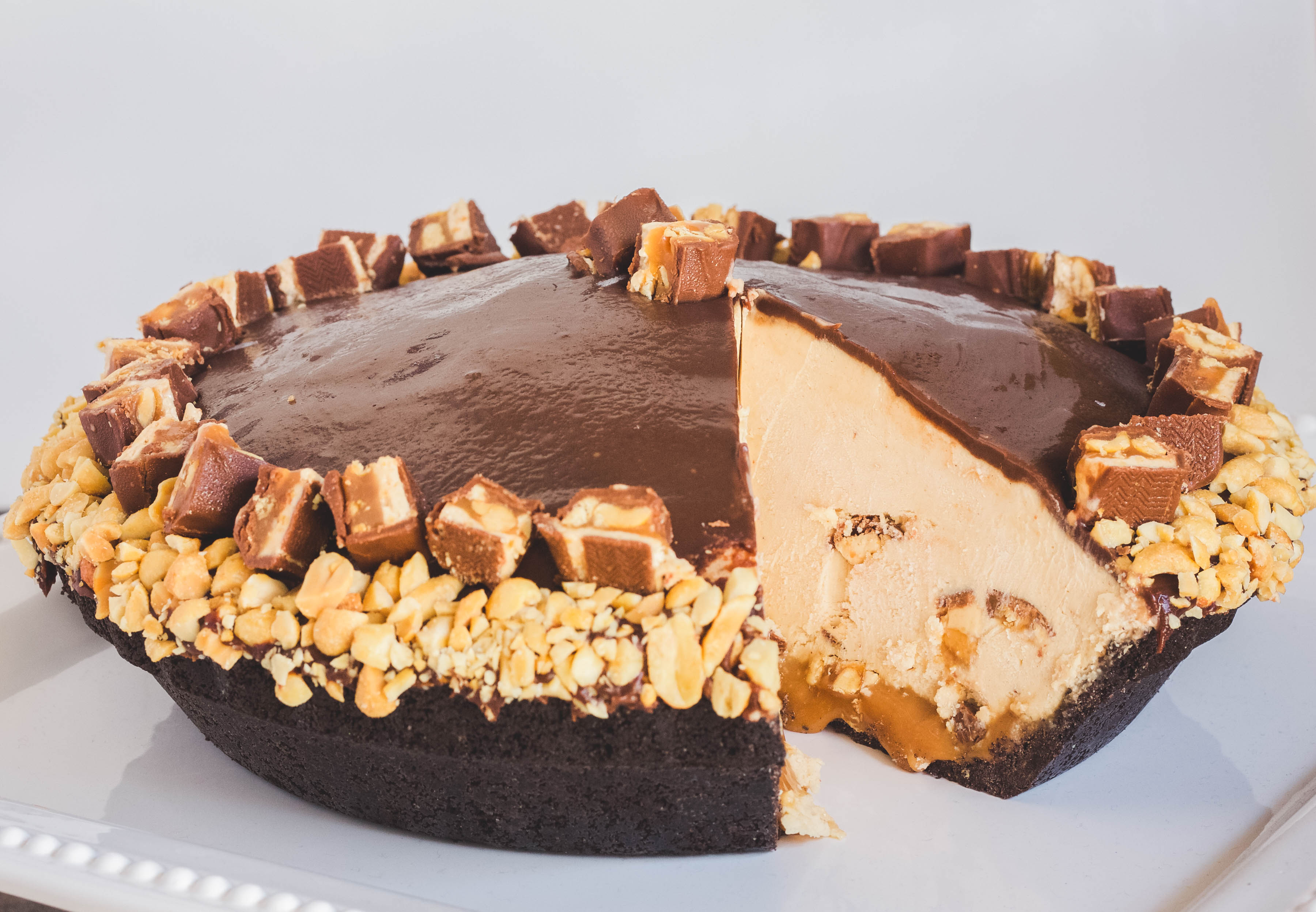 Mile High Snickers Pie | Jennifer Cooks